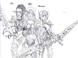 plague, blood and frost (sketch) by riotfury