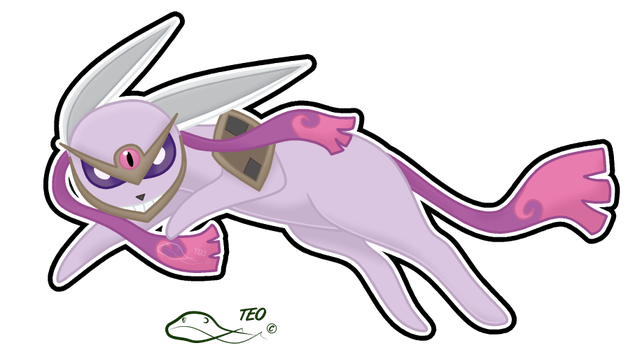Pokemon Fusion - Esblade by The-Emerald-Otter