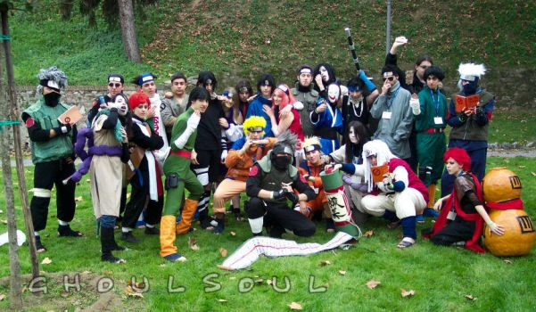 cosplay: Naruto great group by GhoulSoul