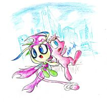 Urban Mew x Celebi draft by Adept-eX