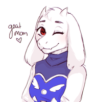 Goat Mom by ActualSkeleton