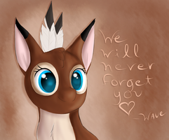 We will never forget you by Wave-Realm