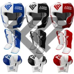FP Kids Head Guard Boxing Gloves Shin Pad Set by 3545247