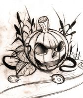 rough pumpking sketch by WillemXSM