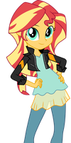 Sunset Shimmer Friendship Games Official Vector by icantunloveyou