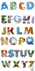 A Pokemon Alphabet by MaryPotter