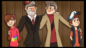 Gravity Falls group picture by JinxBC