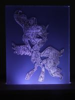 Princess Luna Acrylic LED Picture by steeph-k
