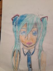 Hatsune Miku for the gazillionth time (sketch) by Devynthegreat