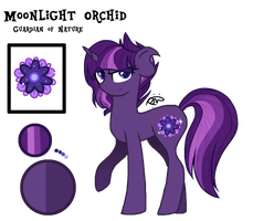 Crystalverse Refrence Sheet: Moonlight Orchid by ThePegasisterPony