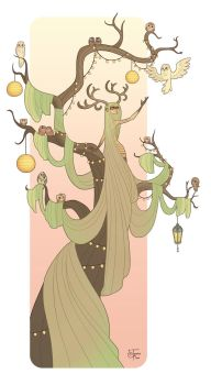 Guardian of the Tree of Owls by MeoMai