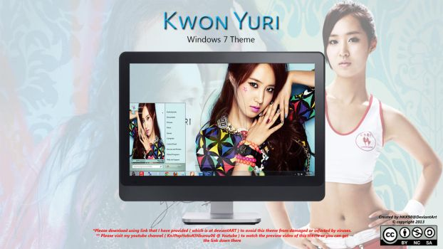 [2013 Theme] Kwon Yuri [SNSD] Win 7 by HKK98