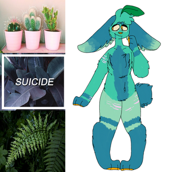 Sad plant bunny | adopt | open by dyanide