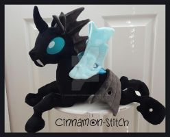 mlp plushie commission THORAX changeling #6 by CINNAMON-STITCH