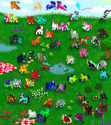 Pixel Pony Collage by causticardor