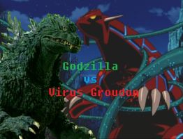Godzilla vs Virus Groudon by LordOrga