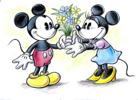 Mickey and Minnie by zdrer456