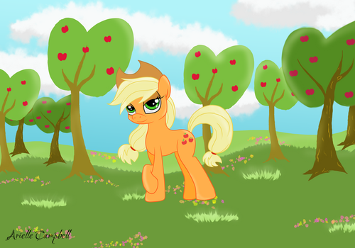 You want some apple?! by MermaidSoupButtons