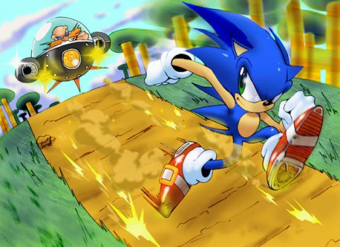 Sonic The Hedgehog by Robaato