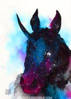 Unicorn Head Nebula by DablurArt