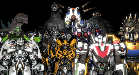Heroic Earth Monsters and Autobots by NestieBot