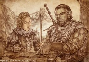 Amalina and Euric by Agregor