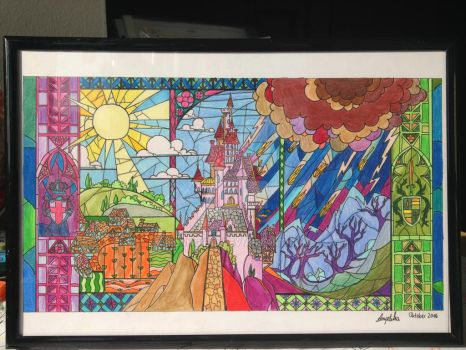 Birthday present Beauty and the Beast Castle by lilangie19