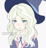 Diana | Coloured ( Little Witch Academia Fanart ) by tinywhitestar