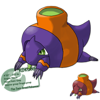 sits around spitting by G-FauxPokemon