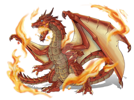 Commission: Uniboton Red Dragon by Blabyloo229