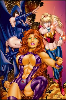 Titans Girls by Ed Benes by tony058