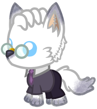 Dr.Wolf Plushie by AlexVoicer001