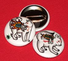 Okami Buttons by JellySoupStudios