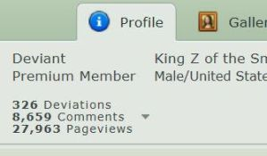 Zebesian (King Z of the Smiling Army) Pageviews by Thesimpleartist4