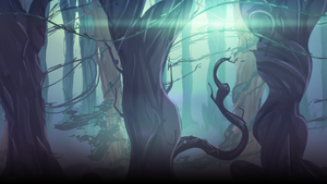 The Twisted Treeline (Background Art) by CooliSushi
