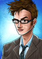 The 10th Doctor W Video Link By Chrisily FREE Lineart