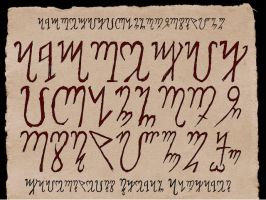 Theban Alphabet by Fagertveit