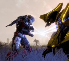 Halo Reach: Go Down Fighting by Mjag