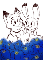 Garden Of Crazy Love: Blue Jasmine by Cookie-and-her-foxes