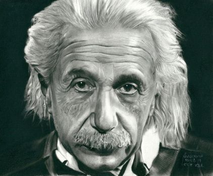 Albert Einstein   Charcoal and Pencil by Rodelrosario