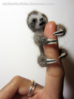 Baby Sloth hugs for your finger by Rainbowbubbles