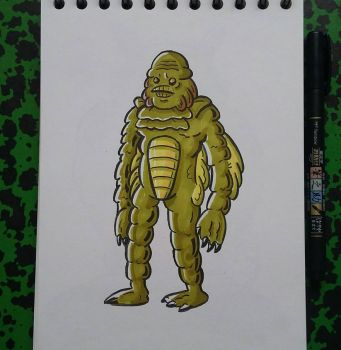 The Creature from the Black Lagoon by tomcollemare
