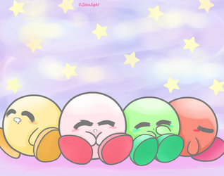 Kirby and Friends by StarlightAlien