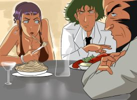 Cowboy Bebop: Dinner by dr-runcible