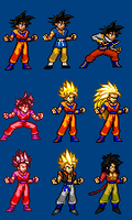 PSSB: Goku's Alternate Forms by LeeHatake93