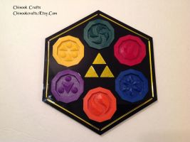 Zelda Sage Medallions with Sage Temple Plaque by ChinookCrafts