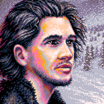 Pixel-art - 'Snowy day' (pico-8) by jokov