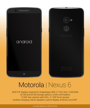 Motorola Nexus 6 Concept Design by teerox