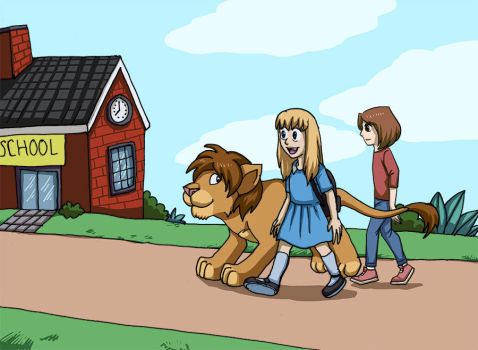 girl and lion 2 by sushy00