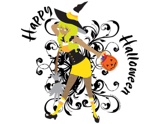 Halloween Candy Corn Witch by MeisterVonDraught